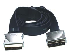 Profigold PGV783 3m Flat Cable Scart Lead