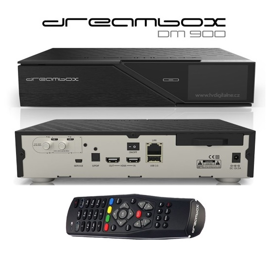 e53d80823 Satelitný 4K prijímač DVB-S2/C/T2 Dreambox DM 900 UHD Triple Tuner ...